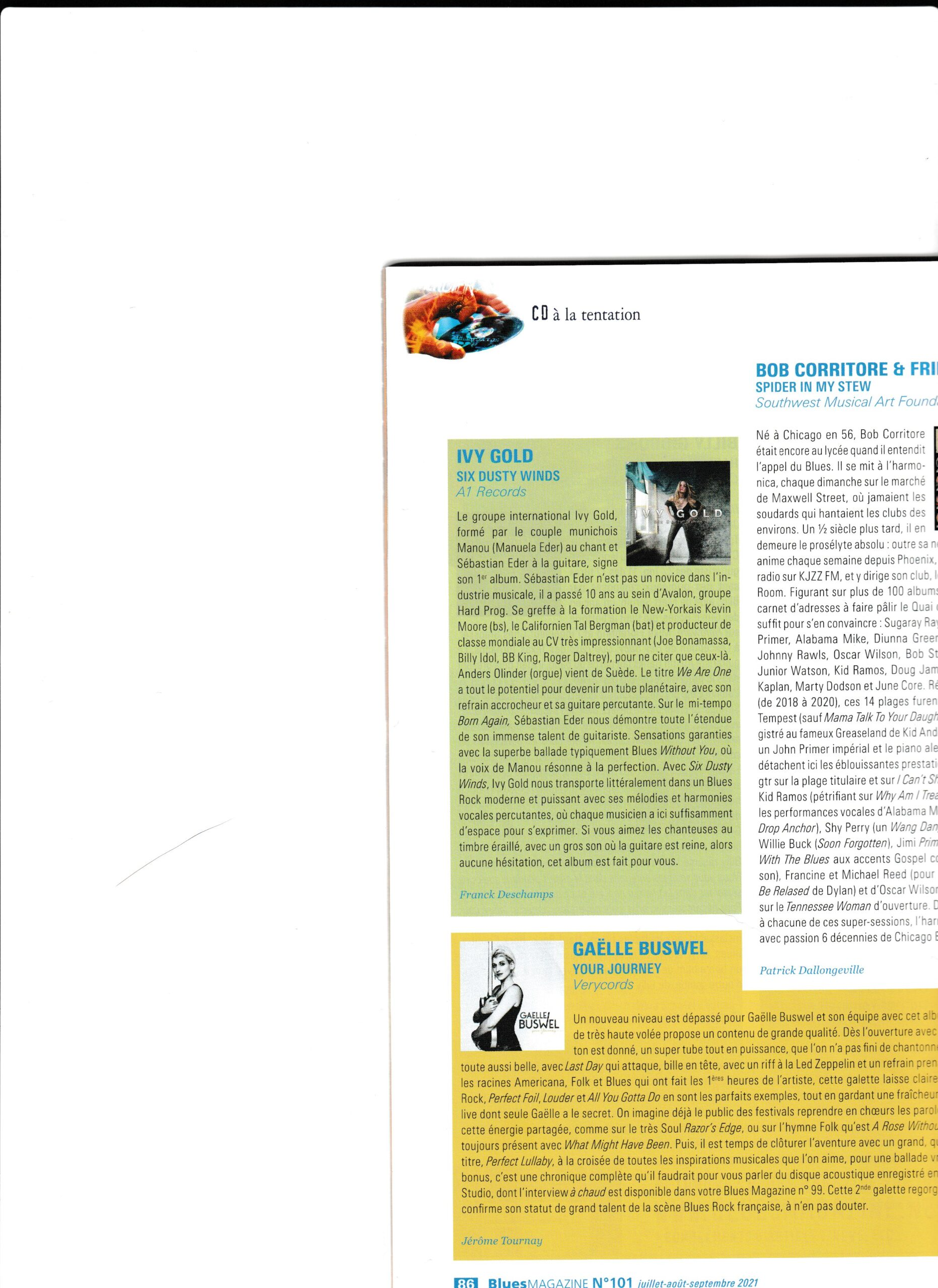 Blues Magazine, FR (click for the review)